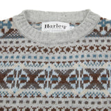 Harley Fair Isle Jumper in New Silver