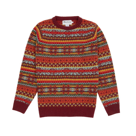Harley Fair Isle Jumper in Red Hot