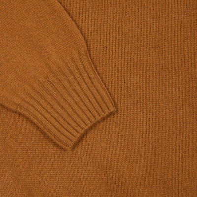 Harley Rollneck Geelong Lambswool Jumper in Vintage Vicuna
