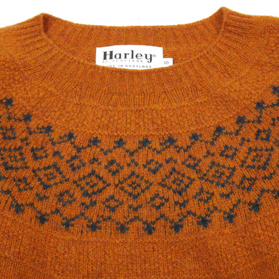 Harley Women's Crew Neck Pure New Wool Jumper in Vintoran / Petrol