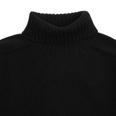 Harley Women's Roll Neck Geelong Lambswool Jumper in Black