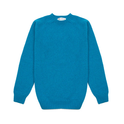 Harley Supersoft Shetland Jumper in Bondi Blue