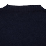 Harley Crew-Neck Cashmere Jumper in Nero Navy
