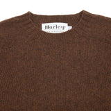 Harley Supersoft Shetland Jumper in Coffee