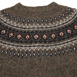 Harley Women's Donegal Fair Isle Yoke Cardigan in Macean