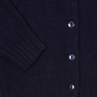 Harley Women's Supersoft Shetland Cardigan in New Navy