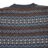 Harley Supersoft Shetland Fair Isle Jumper in Moonshadow