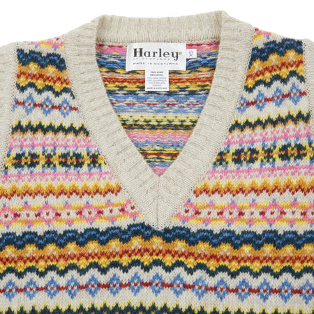 Harley Women's Fair Isle Slip Over in Putty