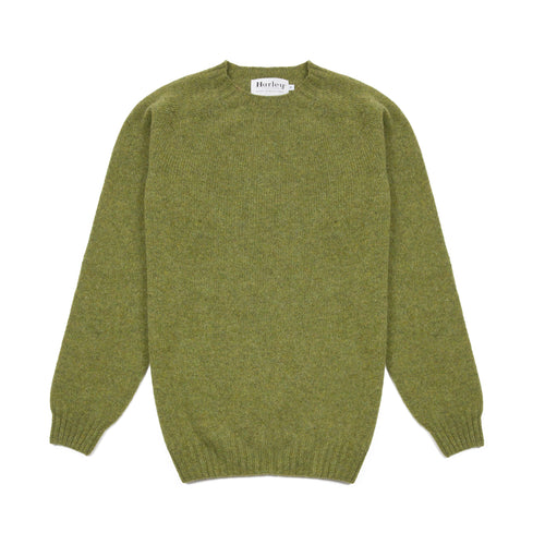 Harley Supersoft Shetland Jumper in Olivegrove