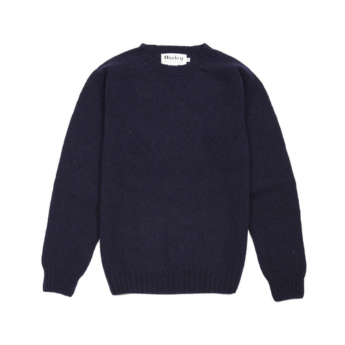 Harley Crew-neck Supersoft Shetland Jumper in New Navy