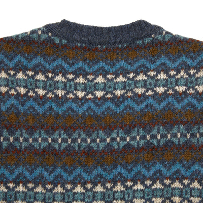 Harley Supersoft Shetland Fair Isle Slipover in Moonshadow