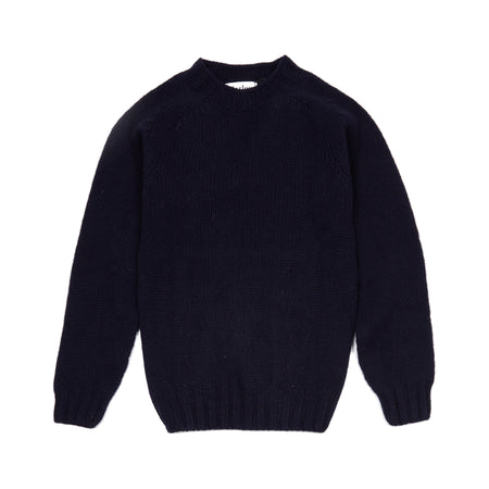 Harley Chunky Supersoft Shetland Jumper in New Navy