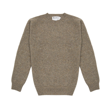 Harley Supersoft Shetland Jumper in Oyster