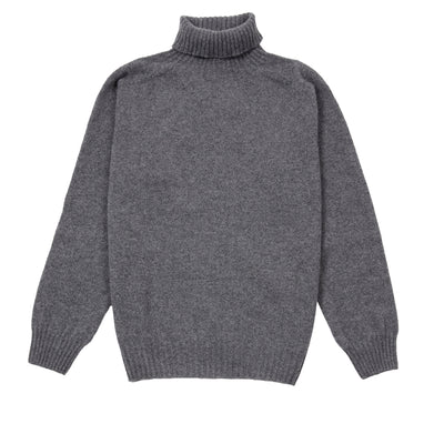 Harley Women's Roll Neck Geelong Lambswool Jumper in Derby