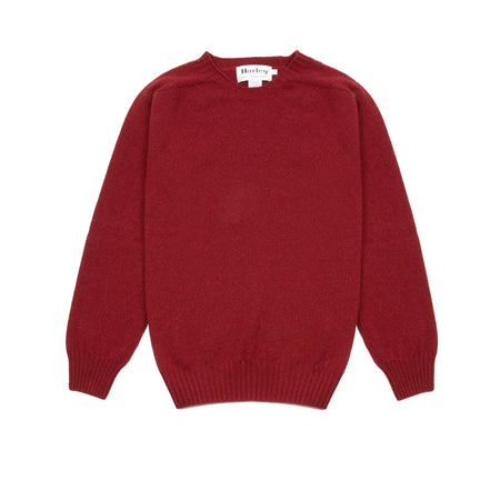 Harley Women's Crew Neck Geelong Jumper in Russet Red