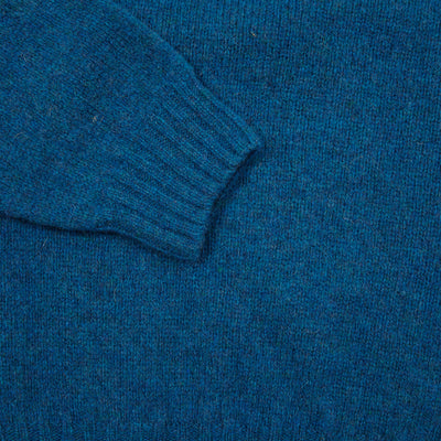 Harley Crew-Neck Supersoft Shetland Jumper in Atlantic Spray
