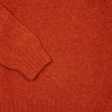 Harley Crew-Neck Supersoft Shetland Jumper in Iron Rust