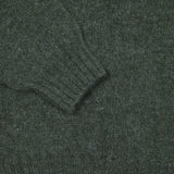 Harley Crew-Neck Supersoft Shetland Jumper in Spruce