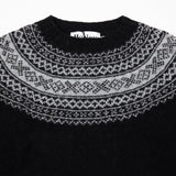 Harley Women's Crew Neck Pure New Wool Jumper in Black / Silver