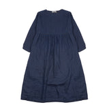 Ichi Antiquities Linen Twill Indigo Bleach Dress