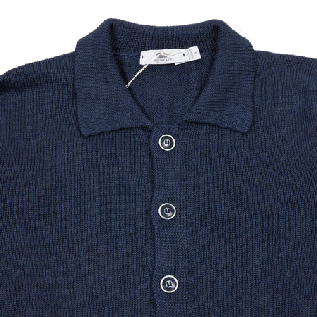 Inis Meáin Linen Shirt Jacket in Blueberry