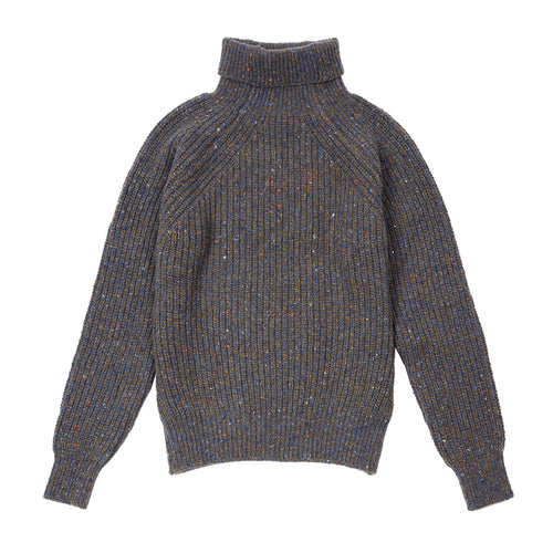 Inis Meáin Boat Builder Turtle Neck Jumper in Clare
