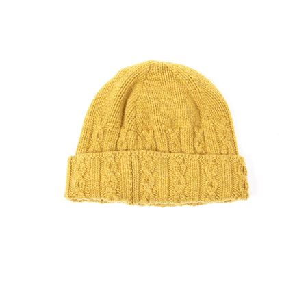 Inis Meáin Merino Cable Hat in Yellow