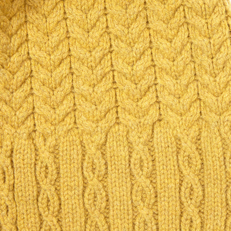 Inis Meáin Merino Cable Scarf in Yellow