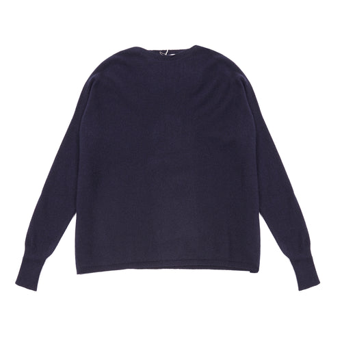 Inis Meáin Women's Maxi Jumper in Blue Navy