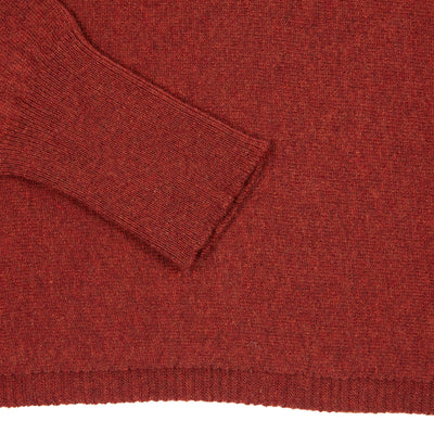Inis Meáin Women's Maxi Jumper in Burnt Orange