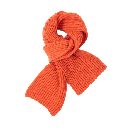 Inis Meáin Wool Cashmere Rib Scarf in Tegola