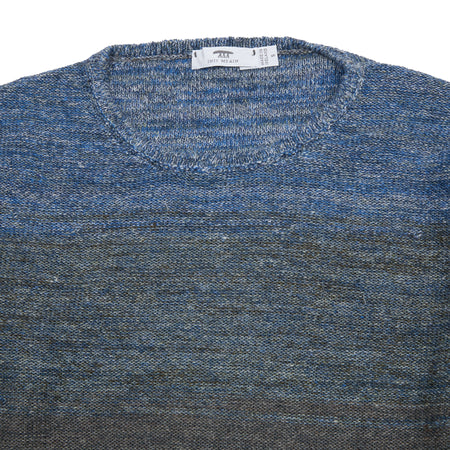 Inis Meáin Linen Ombre Tunic in Dark Blue/Charcoal Blend