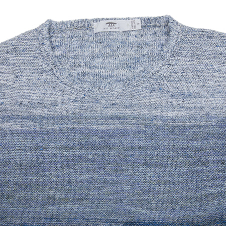 Inis Meáin Linen Ombre Tunic in Dark Light/Dark Blue Blend