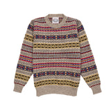 Jamieson's Crew-neck Fair Isle Jumper in Natural