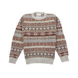 Jamieson's Crew-Neck Fair Isle Jumper in Platinum