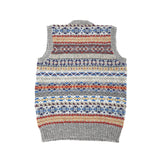 Jamieson's 2017/3 Fair Isle V-neck Slipover in Chrome