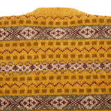 Jamieson's 626/65 Crew-Neck Fair Isle Jumper in Old Gold