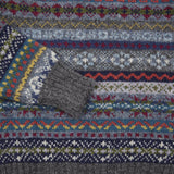 Jamieson's Crew-neck Fair Isle Jumper in Charcoal