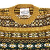 Jamieson's Crew-Neck Fair Isle Jumper in Mustard