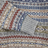 Jamieson's Crew-Neck Fair Isle Jumper in Grey