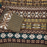 Jamieson's Crew-Neck Fair Isle Jumper in Pine
