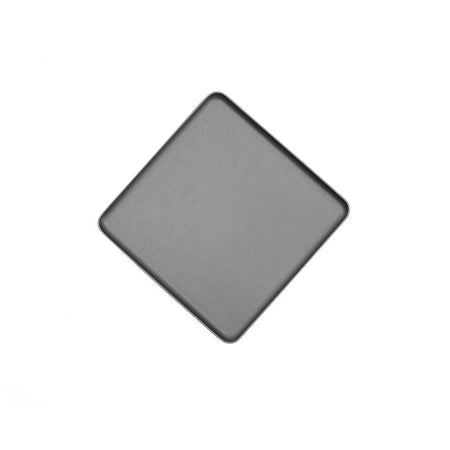 Kaymet Square Pressed Aluminium Tray in Pewter