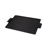 Kaymet Rectangular Pressed Rubber Grip Aluminium Tray in Black