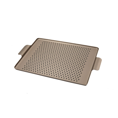Kaymet Rectangular Pressed Rubber Grip Aluminium Tray in Mocha