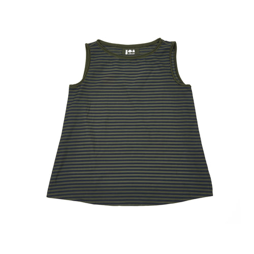 Labo Art Women's Canotta  Giola Striped Tank Top in Olive