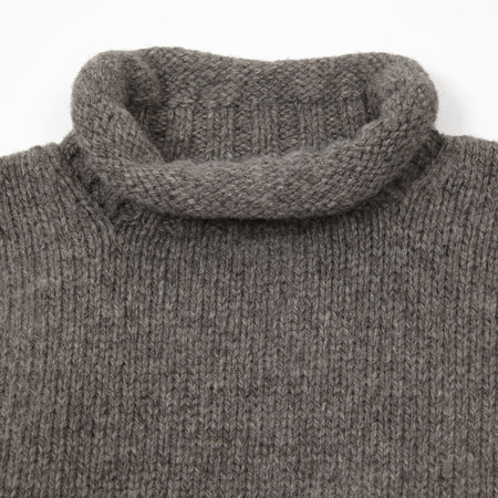 Laurence J Smith Wool Lupetto Neck Jumper in Grey