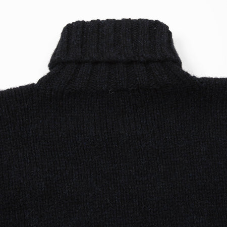 Laurence J Smith Wool Polo Neck Jumper in Blue