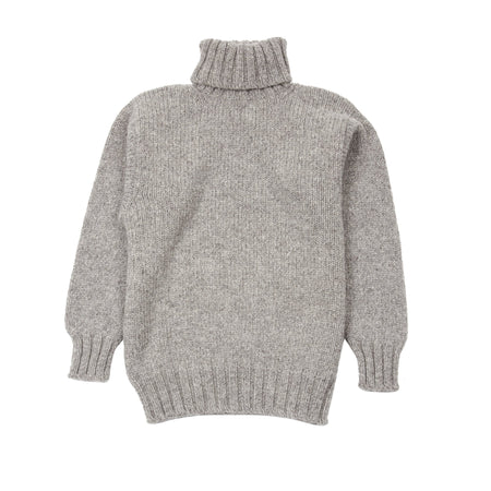 Laurence J Smith Wool Polo Neck Jumper in Grey