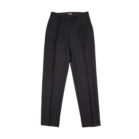 Massimo Alba Women's Wool Trousers in Nero