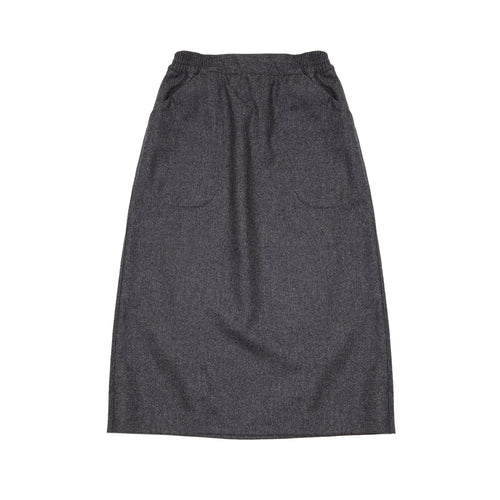Massimo Alba Women's Flannel Skirt in Grey